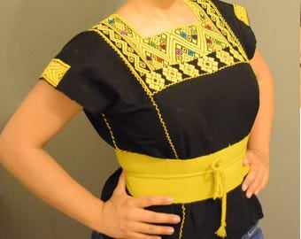 Shirt chiapaneca made in waist loom / embroidered blouse / mexican party / mexican huipil