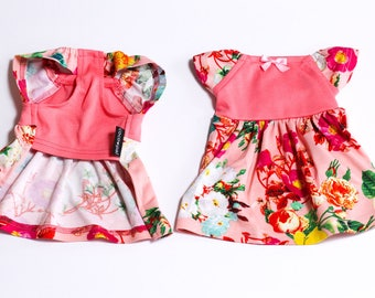 Girly Flower Dress for dog  Size XS,S,M,FB