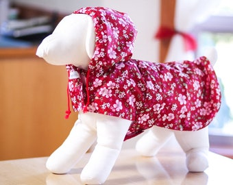 Girly dog raincoat