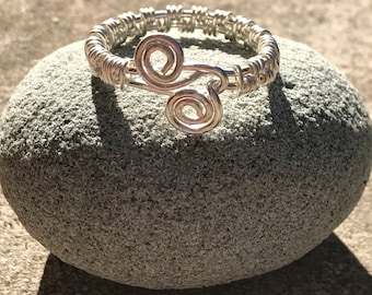 Solid Sterling Silver Wire Wrapped Ring