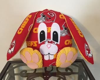 Kansas City Chiefs Handmade Stuffed Bunny