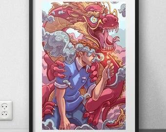 """Consumed, original creation art print (12 X 18 """"/ 6 X 9"""")"""