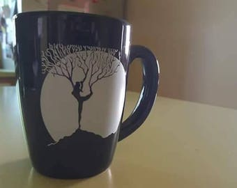 Woman in tree pose 13oz. Mug