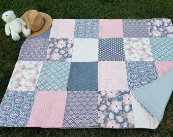 Sweetheart Handmade Wedding Quilt / Picnic Blanket