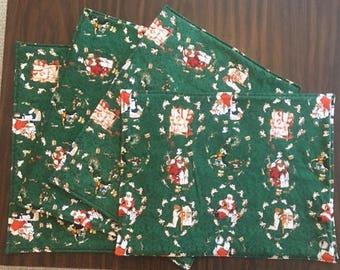Christmas Kitchen Placemats - Christmas Santa