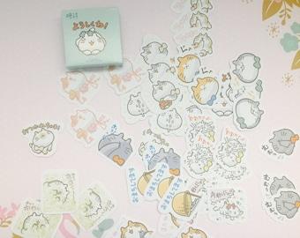 Kawaii cat kitten stickers/ 45 pcs cat sticker flakes / box of cat stickers