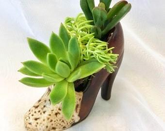 Unique shoe planter pot, succulent plants, garden gifts