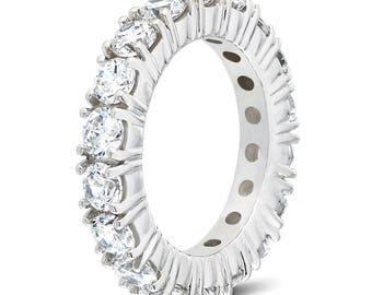 Full eternity diamond wedding band H-I Si2 natural diamonds