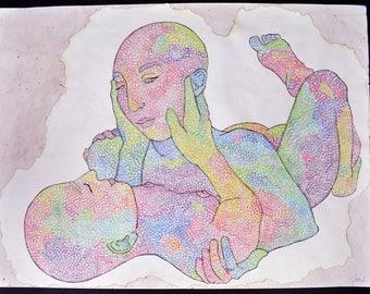 Original Pastel Pointillism