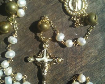The Antique Pearl Rosary