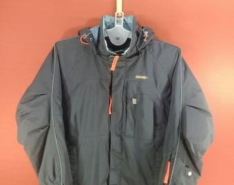 Vintage Descente Down Jacket Hoodie Windbreaker Outdoor Winter Jacket Puffer Blue Colour Size M Nike Windbreaker Timberland Jacket Puffer
