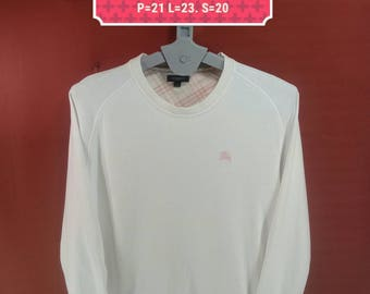 Vintage Burberrys Ladies Sweatshirt White Colour Size M Polo RL Sweatshirts Dior YSL Shirt Comme Des Garcons Sweatshirts Issey Miyake Shirt