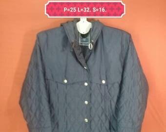 Vintage Lautreamont Long Jacket Parka Hooded Blue Black Colour Size M Yohji Yamamoto Comme des Garcons