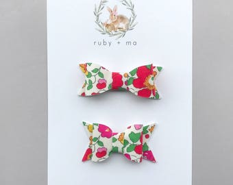 Spring Floral Bows, Classic or Chunky Bow, Retro Floral