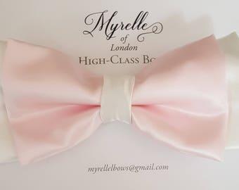 Stunning, bridal, wedding, hair bows children's, adult's, satin, black,  fashion, clips, hair,
