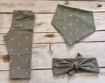 Baby girl or boy Grey Legging Set (also sold separately)