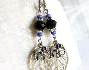 Travel elephant earrings