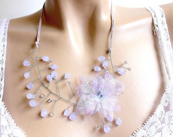 Purple necklace branch floral.