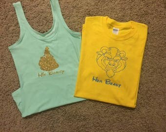 His & Hers Beauty and the Beast Disney Shirts