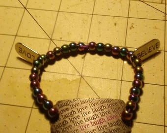 Magnetic Live Love Laugh Bracelet