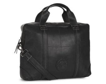 Upcycled Leather Laptop Bag Handmade with Tyre Inner Tubes