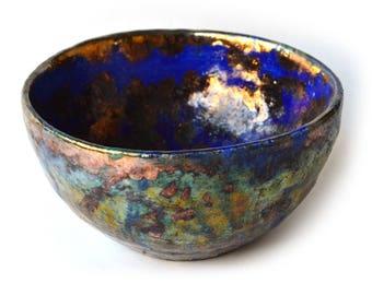 pottery ceramic raku, bowl
