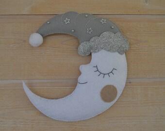Moon sleeping/wall decor / hanging Moon room