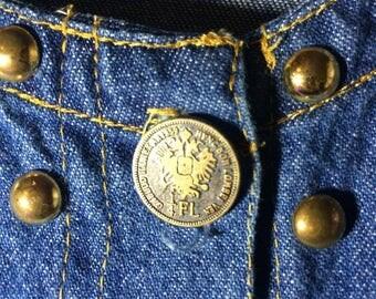 Vintage Jean Dress L