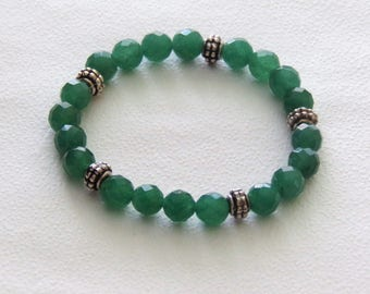 Elastic bracelet green aventurine