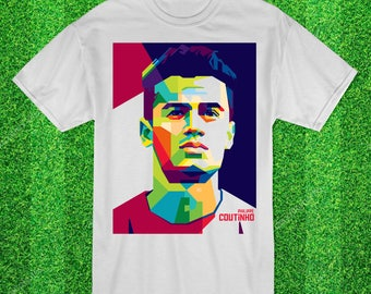 Philippe Coutinho Fc Barcelona & Brazil Football t-shirt