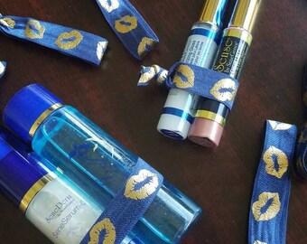 Elastic Bands- Gold Lips- Ships to US AU CA Hairties Lipsense Senegence Hair Tie- Navy
