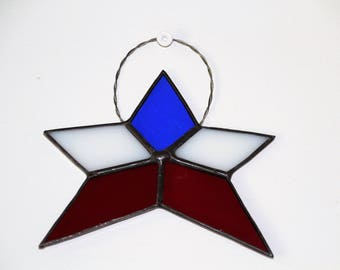 Patriotic Stained Glass Star
