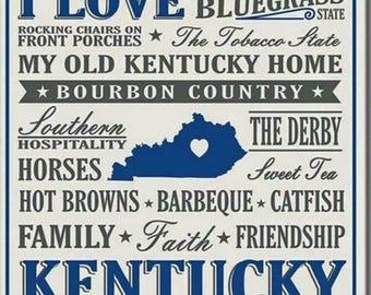 Kentucky Ceramic Coasters Set Of 4