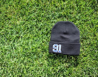 CUFF beanie customized with your all-star's number