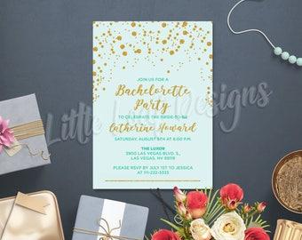 Bachelorette Party Invitation, Tiffany Blue Invitation, DIY Bachelorette Invitation, Affordable Bachelorette Invitation