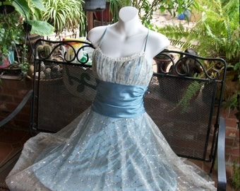 Cinderella/Mermaid Pin Up Sparkle Dress-Small