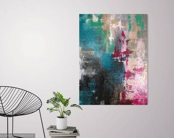 My First Kiss Original Abstract On Canvas