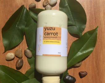 Handcrafted Yuzu Carrot Strengthening Hemp Nourishing Deep Conditioning Treatment Hair Mask Masque