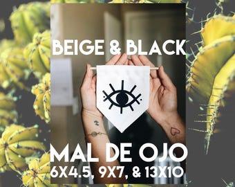 Mal de Ojo | Evil Eye Hanging Wall Flag Banner (multiple sizes available)
