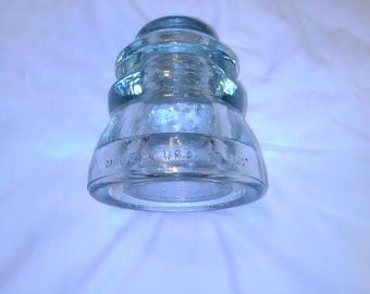 Vintage KERR Glass Electric Insulator DP1 Made in USA