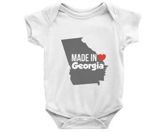 Made in Georgia Onesie, Made in Georgia Bodysuit, Georgia Baby Onesie, Baby Shower Gift, Local Baby Onsie, Cute Georgia Clothing Outfit