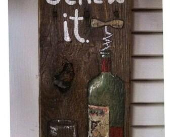 Wine Pallet Wood Hanging