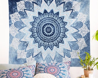 Mandala Wall Tapestry Boho Home Decor Buddha Wall Decorate Hanging Throw Yoga Carpet Bohemia Beach Blanket Bed Cover Home Improvement Picnic