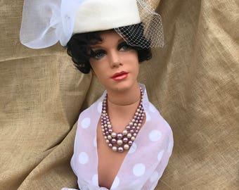 Vintage Mannequin Bust with Accessories