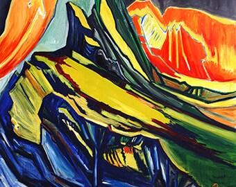 Tops, original painting -  from original oil painting
