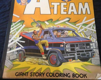 1983 The A-Team giant story coloring book