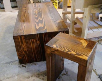 Beam Coffee table and end table