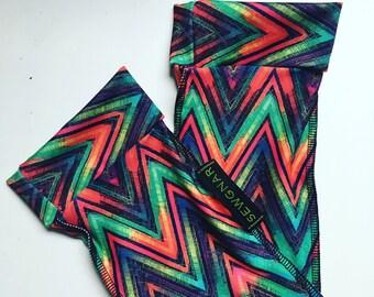 SCUBA Socks in multi colored chevron