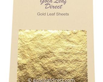 20 SHEETS x 24k Gold Leaf on base 100% Genuine .