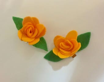 Flower Barrette (Marigold)